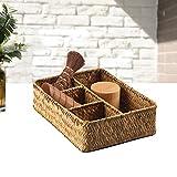HJWXY Caja de almacenamiento hecha a mano, para decoración de residuos domésticos amarillo