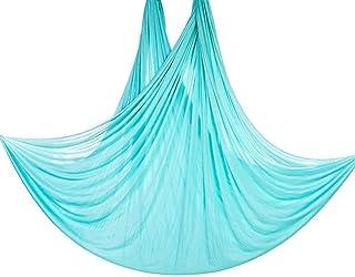 Fitness Equipment Fitness Yoga Swing Yoga Hammock for Yoga Antigravity Body Inversion Pose Guide Exercises Equiptment(Sky Blue)