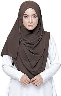 Solid Color Bubble Chiffon Scarf Women Muslim Hijab Long Scarf Wrap Scarves