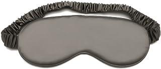 Slocyclub 100% Mulburry Silk Sleep Mask,Super-Smooth Blindfold,Eyeshape for Nightsleep,Nap,Travel,Iron-Gray