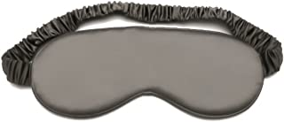 Slocyclub 100% Mulburry Silk Sleep Mask,Super-Smooth Blindfold,Eyeshape for Nightsleep,Nap,Travel,Iron-Gray