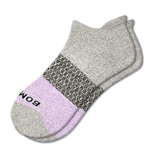 Bombas Women's Ankle Socks (Wisteria/Grey, Medium)