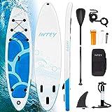 INTEY Tabla Paddle Surf Hinchable 305×76×15cm, Sup Paddle Remo Ajustable, Tabla Stand Up Paddle Board, Bomba de Doble, Seguridad – Modelo Onaga