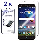 [2-Pack] for ZTE Grand X 3 Z959 / ZTE Warp 7 N9519 HD Tempered Glass Screen Protector Film by Nacodex 9H Glass (for ZTE Grand X 3 Z959 / ZTE Warp 7 N9519)