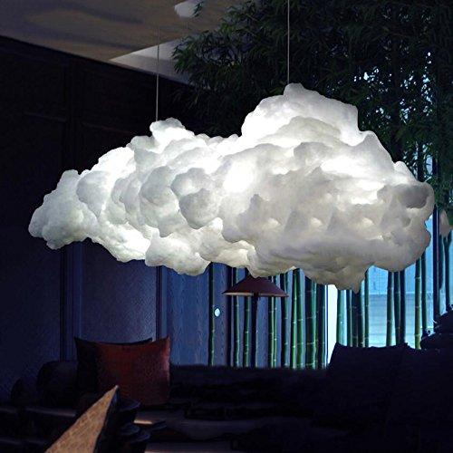 Nuages chandeliers,Personnalité créatrice de lampes led flottante art de nuages blancs de lustres lampes lustres décoratifs plafonnier lustre diamètre 60 cm blanc-E