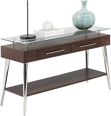Progressive Furniture Studio City Sofa/Console Table, Brown