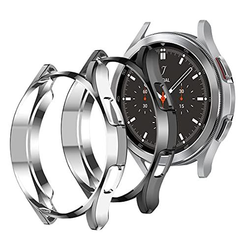 Diruite Compatible con Samsung Galaxy Watch 4 Classic 46mm Fundas,TPU Flexible antirrayas Funda Protectora Suave para Galaxy Watch 4 Classic 46mm