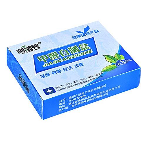 Kaqiqi Formaldehyde Test Kit 1Box Formaldehyde Air Rapid Test Kit Household Indoor Air Quality Pollution Detection Sensor Tester Supplies