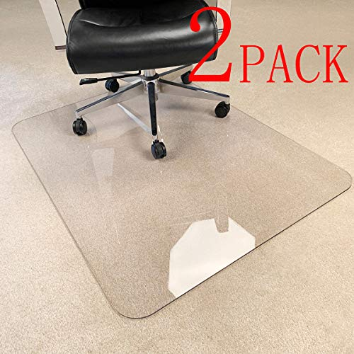 """[Upgraded Version] Crystal Clear 1/5"""" Thick 47"""" x 35"""" Heavy Duty Hard Chair Mat, Can be Used on Carpet or Hard Floor"""
