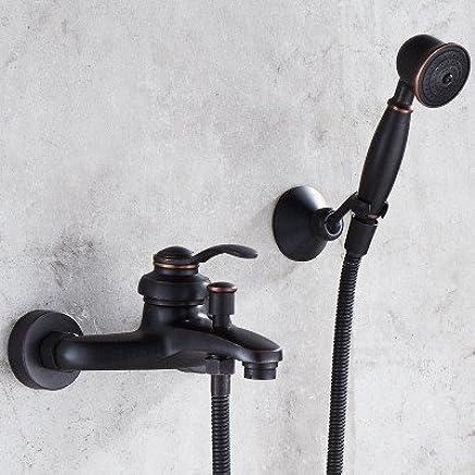 882e6289d261 The shower bathtub faucet shower Lite handheld Antique copper copper copper  faucet shower style triple tap 460d97