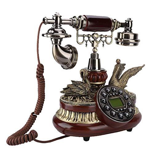 JFF Teléfono Antiguo Retro, Teléfono Fijo Clásico Europeo De Estilo Antiguo con Doble Sistema FSK/DTMF Pantalla Automática De Identificación De Llamadas con Función IP