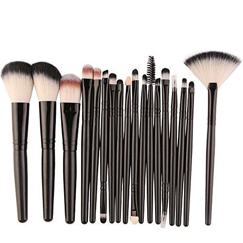 Pinceaux Maquillages Professionnel 18 Ensemble De Outils Maquillage Toilette Trousse Toilette En Laine Pas Cher Pour Yeux Teint