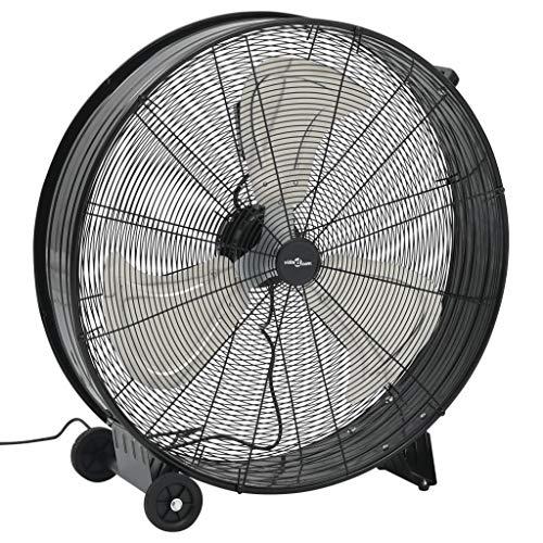 vidaXL Ventilador de Tambor Industrial de Suelo Máquina de Viento Refrigeración Escenarios de Películas Teatros Sesiones de Fotos Negro 77 cm 180 W