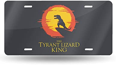 Durable Tyrant Lizard King Auto Car Tag for Vehicle Car and Truck License Plate 6