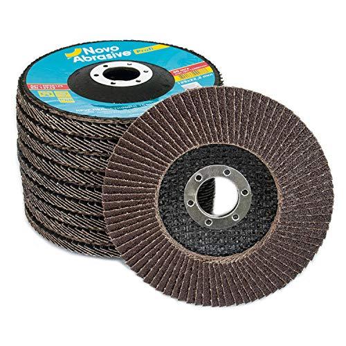 NOVOABRASIVE Discos De Láminas 125 x 22,2 mm 60-Grano Caja De 10 Pzas. Ideal Para...
