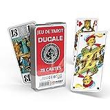 Ducale, le jeu Français Jeu de Tarot 78 Cartes - Boîte Plastique Multicolore