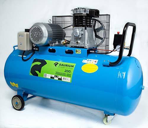 Saurium 37178 Compresor de Aire Eléctrico Trifásico 200L 4HP-Saurium-37178