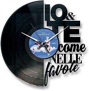 Disc'O'Clock Orologio in Vinile da Parete Lp 33 Giri Silenzioso Come nelle Favole - Idea Regalo per Fan di Vasco Rossi
