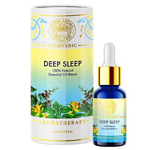 DIVINE AROMA Aceite esencial para dormir profundo para dormir natural, 10 ml, 3.5 fl oz