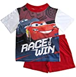 Cars Disney 3 Kollektion 2018 Ökotex Standard 100 Schlafanzug 92 98 104 110 116 122 128 Pyjama Kurz Shortie Shorty Lightning McQueen Jungen (Weiß-Rot, 98-104)