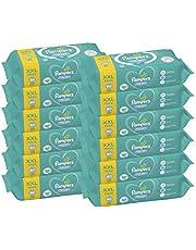 Pampers Fresh Clean Chusteczki 12 opakowań po 80 chusteczek = 960 chusteczek, neutralny zapach, świetnie nadają się również do rąk i twarzy