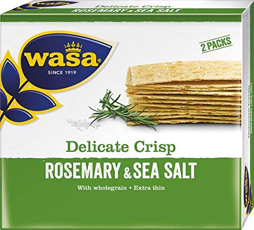 Wasa Delicate Crisp Rosmarin & Salz, Knäckebrot - 10x 190 g