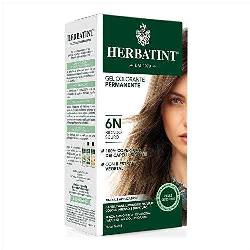 Novavis Tinte para cabello con extractos vegetales, 6 N/Rubio oscuro, 135 ml