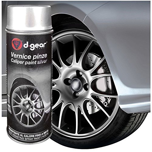 D-GEAR 1210102 Pinze Freno, Bomboletta Vernice Spray Ad Alta Temperatura, Argento, 400 ml