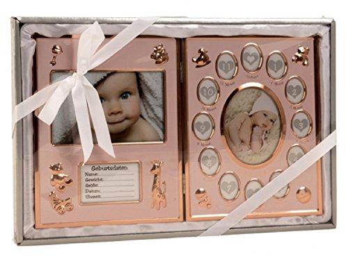 1732 Baby Bilderrahmen Mein erstes Jahr Fotorahmen 41,5 x 27,5 cm in Bronze