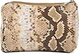 styleBREAKER Bolsa de Belleza para Damas en Piel de Serpiente de Colores, Bolsa de cosméticos, Bolsa de Maquillaje, Organizador de Bolsas 02013017, Color:Marrón-Beige
