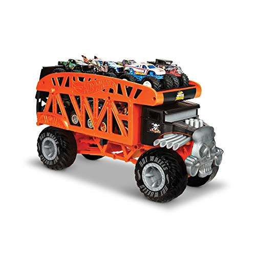 Hot Wheels GKD37 - Monster Trucks Transporter, ab 3 Jahren