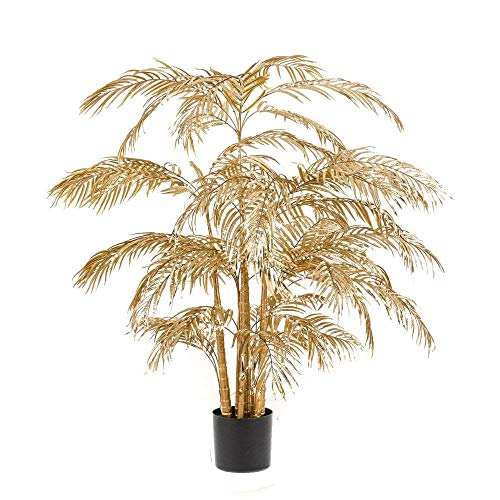 Red Hot Plants - Palma artificiale in oro – pianta di palma Areca dorata – 3 misure (grande – 200 cm)