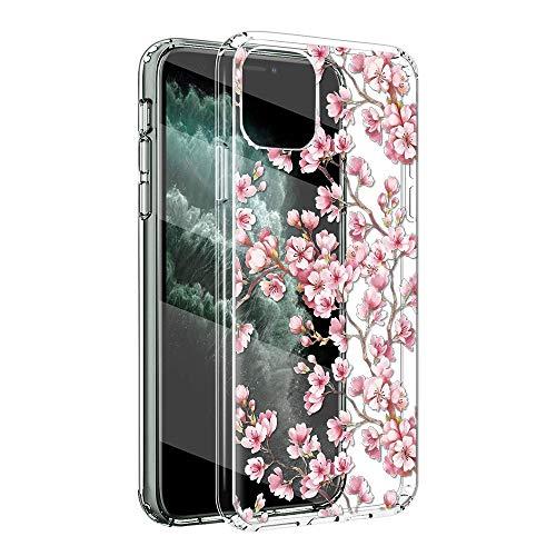 Yoedge Funda Compatible con Apple iPhone 5 4', Ultrafina Silicona Transparente Suave TPU Carcasa Protector, [Antigolpes] Flexible Anti-arañazos Protección Caso con Patrón Diseño, Flores de Cerezo
