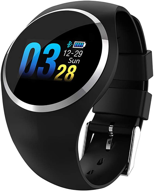 JIAX Smart Watch HR Blautdruckmessgert Weibliche physiologische Erinnerung Smart Watch Fitness Tracker für Android IOS,schwarz