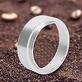 Aluminum Espresso Coffee Dosing Funnel Intelligent Ring Powder Brewing Bowl Replacement Portafilter Accessories Baristas Tool(54mm/2.1in)