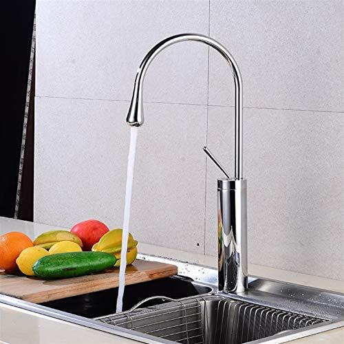 AXWT Faucet Plating Badezimmer-Hahn-Nordeuropa Einfachheit Waschbecken warme und kalte Wasser-Hahn Kreativität Küchenarmatur Basin Aufsatzbecken Taps mit Zubehör (Größe : 48cm)