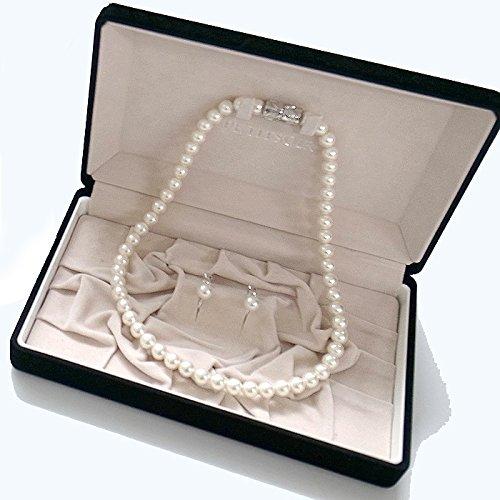 『プチソワール(東京ソワール) 貝パールマグネットネックレス・イヤリングセット(5614990)・白』の1枚目の画像