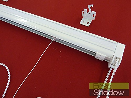 Easy-Shadow - Hochwertige Raffrollo Faltrollo Rollo-Technik Breite 200 cm Kettenzug Länge 100 cm - rechts - geschlossene Kassette mit Seitenzug - inkl. Universalträger - ohne Stoff / Maßanfertigung