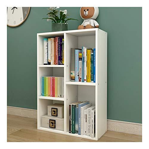 Estante para Libros 5 Celdas Librería/estantería/estantería de Almacenamiento Unidades de estantería Modular, Organizador de Habitaciones para la Cocina Almacenamiento de Sala de Estar Estantería