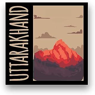 """Matvira Seedhi Jalebi 'Uttarakhand' Fridge Magnet Multicolor 2.75"""" x 2.75"""""""