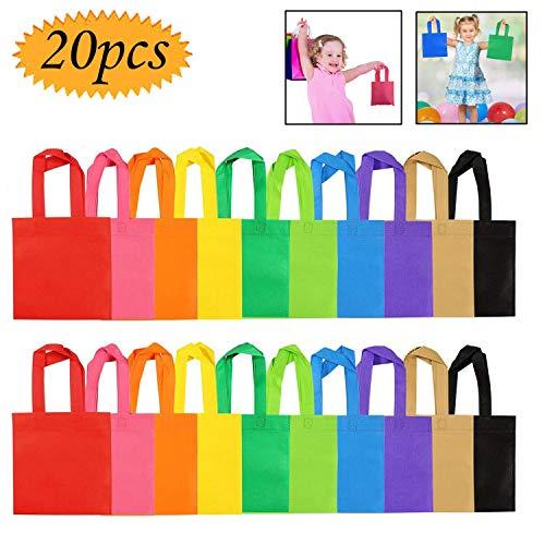 Interesante Herramientas de niños Juguetes, no tejidos, bolsos del partido 20 del paquete del bolso del regalo bolsas de mano Partido de sorpresas trata el bolso de ultramarinos colores del arco iris