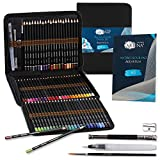 Artina Aquarellia set pittura ad acquerello 78 pezzi con astuccio - matite, pennelli, pennello ad acqua certificati FSC® - matite acquerellabili - matite idrosolubili in legno per pittura