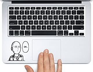 Saitama One Punch Man OK Printed Trackpad Clear Vinyl Decal Sticker Compatible with Apple MacBook Pro Air 11