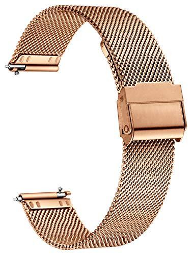XIRUVE Correa de Reloj de Malla, Compatible con el Samsung Gear S2 Classic/Sport, Acero Inoxidable Reemplazo Liberación Rápida
