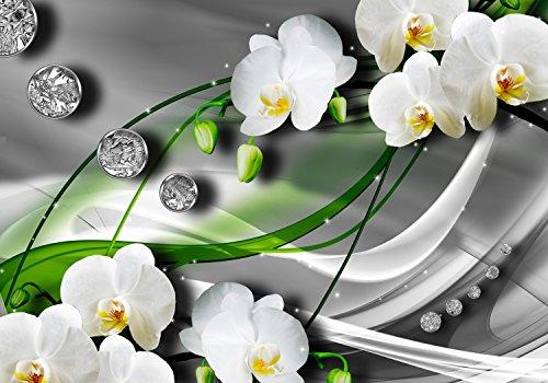 wandmotiv24 Fototapete Lilie Diamanten Blüten, M 250 x 175 cm - 5 Teile, Fototapeten, Wandbild, Motivtapeten, Vlies-Tapeten, Abstrakt, Ranken, Zweige M0533