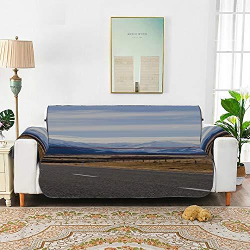 Sunset On Milford Bay Lake Sofá Cubierta elástica Fundas de sofá para Sala de Estar Asiento Cojín para sofá de 45