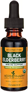 Herb Pharm, Black Elderberry Glycerite Organic, 1 Fl Oz