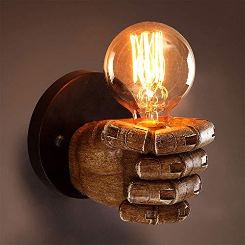 Iluminación de pared ligera para sala de estar. Vintage lámpara de pared creativa de manos industrial en forma de lámpara de pared de la pared de luz, accesorio del zócalo for el dormitorio Cocina Res