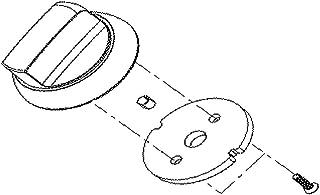 LG AEZ74073405 LG-AEZ74073405 Knob Assembly