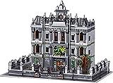 Arquitectura Modular Lunatic Asylum Casa Modular Bloques Construcción 7620 Bloques Terminales 3 Pisos Hospital Madhouse Casa Modular, Compatible con Lego